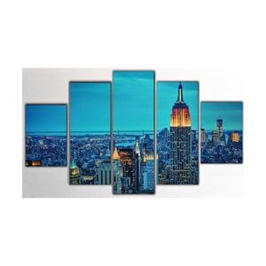 Pięcioczęściowy obraz NY, 100x60 cm