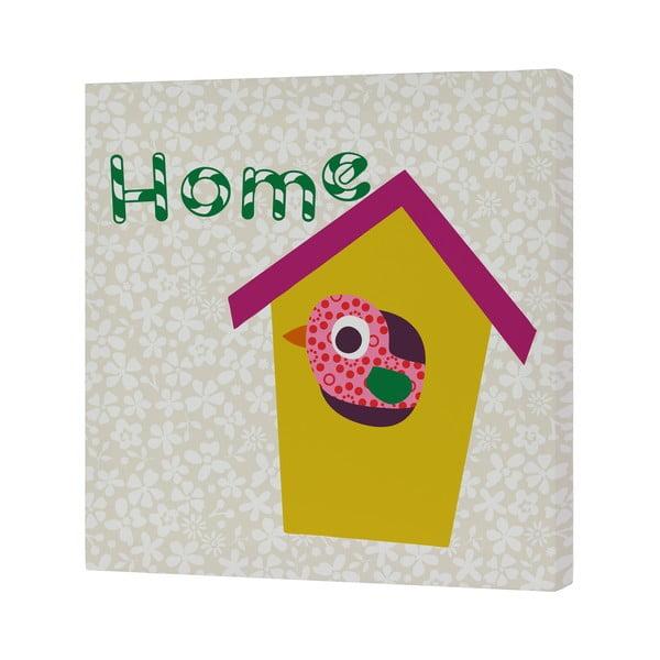 Obrazek Sweet Home Yellow, 27x27 cm