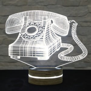 Lampa 3D stołowa Old Phone