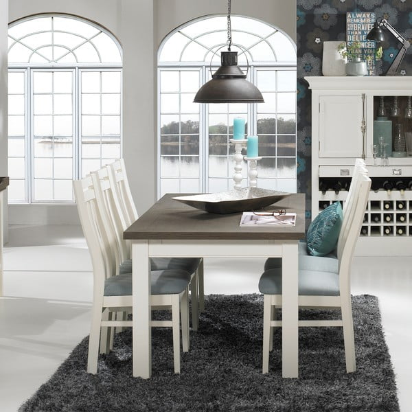 Biały rozkładany stół do jadalni Canett Skagen Butterfly, 200 cm