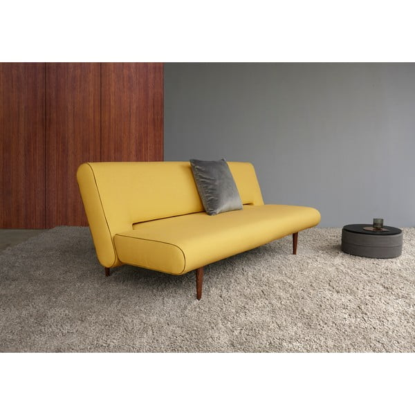 Żółta sofa rozkładana Innovation Unfurl