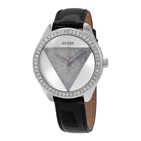 Zegarek damski z czarnym paskiem ze skóry Guess W0884L3