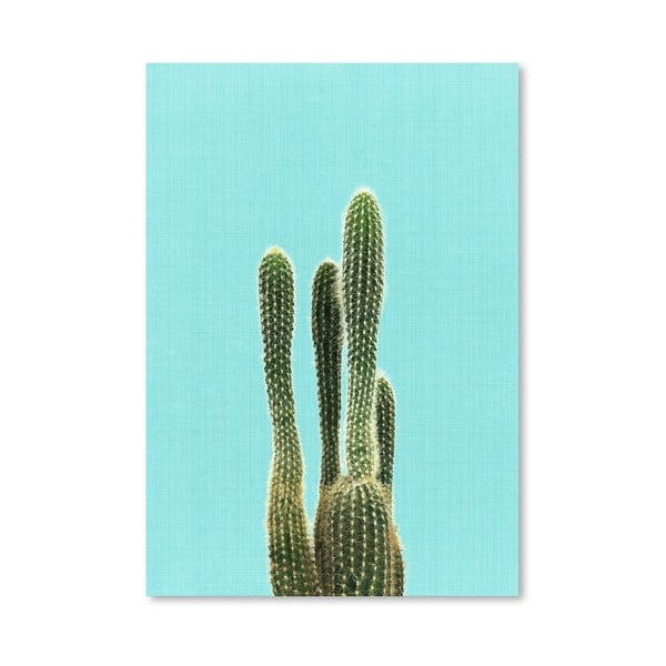 Plakat Cactus On Blue