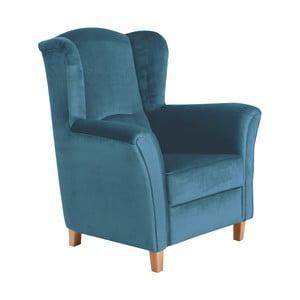 Niebieski fotel Max Winzer Agnetha Suede