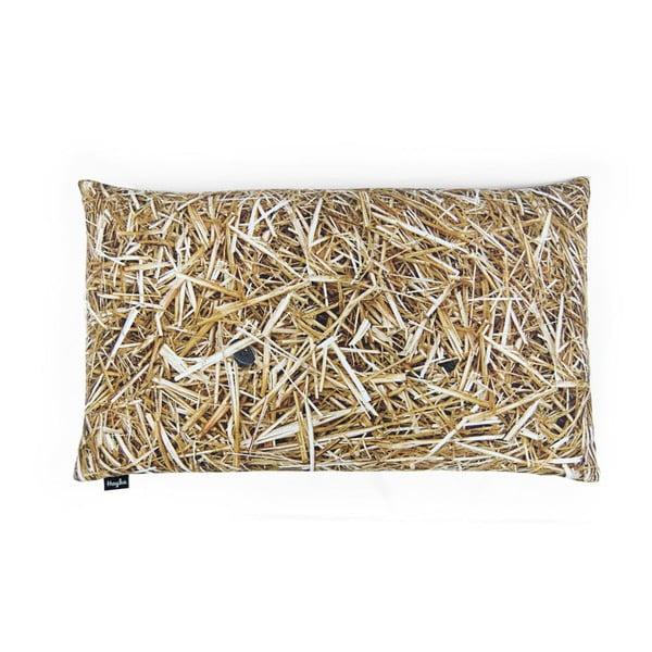 Poduszka z wypełnieniem z gryki Hayka Słoma, 50x30 cm
