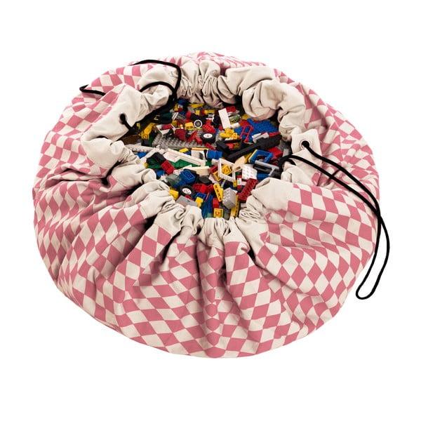 Mata do zabawy i worek na zabawki w jednym Play & Go Diamond Pink