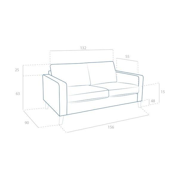 Sofa dwuosobowa Tom Antracit