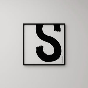 Plakat Litera S, 50x50 cm