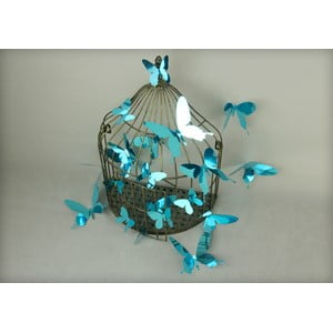 Zestaw 12 naklejek 3D Ambiance Butterflies Blue