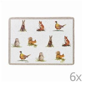 Zestaw 6 mat stołowych Churchill China Wildlife, 29x21 cm
