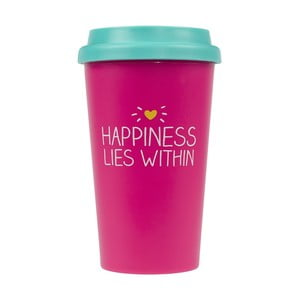 Kubek podróżny Happy Jackson Happiness, 400 ml