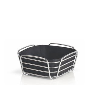 Koszyk na pieczywo z czarną wkładką bawełnianą Blomus Delara, szer.20cm