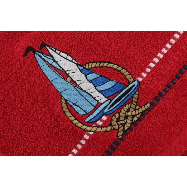 Komplet 2 ręczników Marina Red Yelken, 50x90 cm