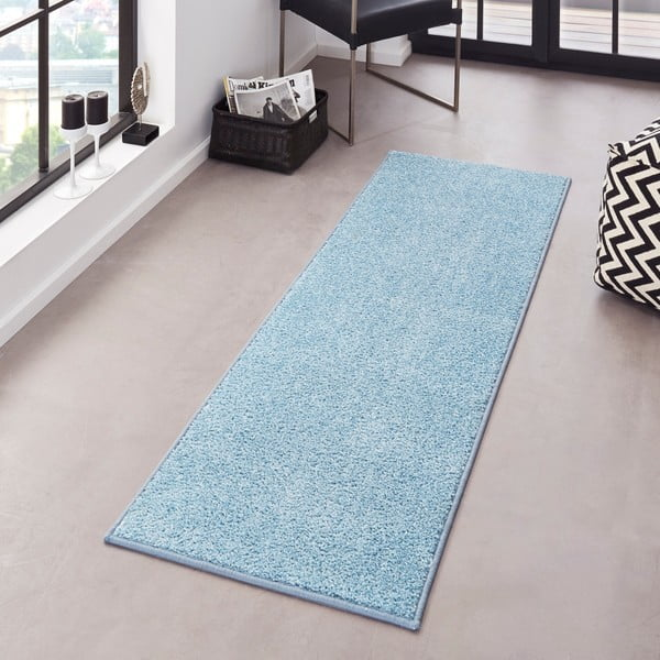 Niebieski chodnik Bougari Pure, 80x200 cm