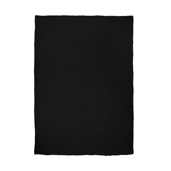 Pleciony koc Fancy Black, 130x170 cm