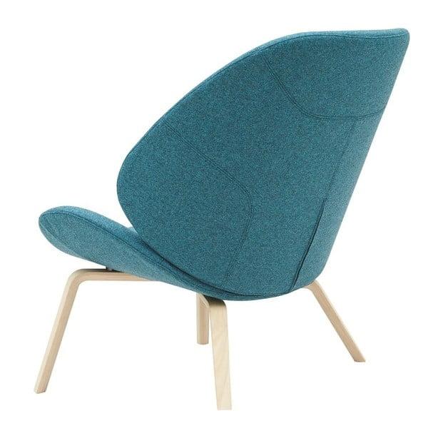 Niebieski fotel Softline Eden