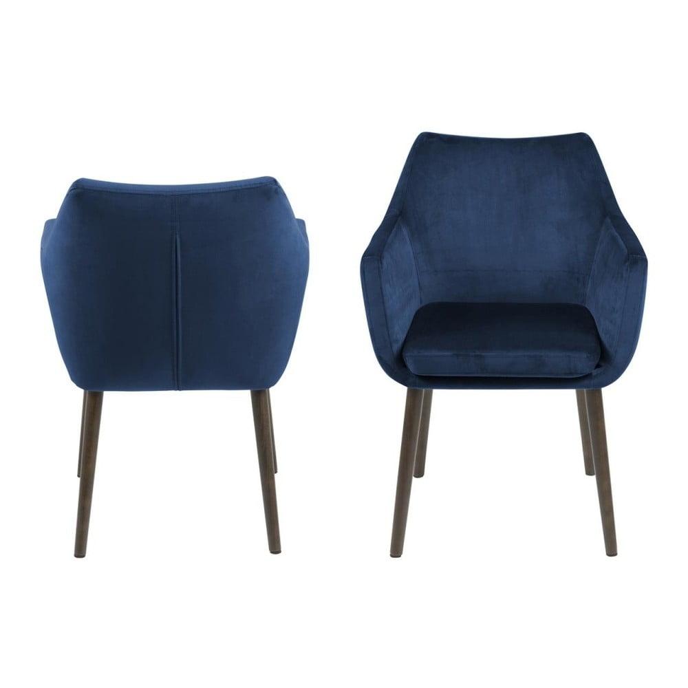 Niebieskie krzesło Actona Nora