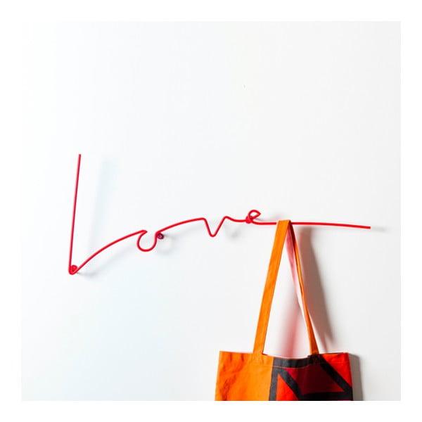 Wieszak Love Coat, czerwony