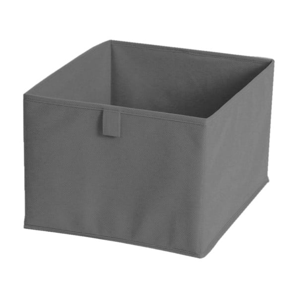 Szare pudełko materiałowe, 30x30 cm