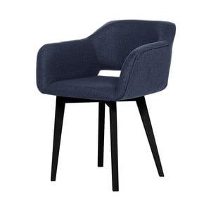 Ciemnoniebieskie krzesło z czarnymi nogami My Pop Design Oldenburg