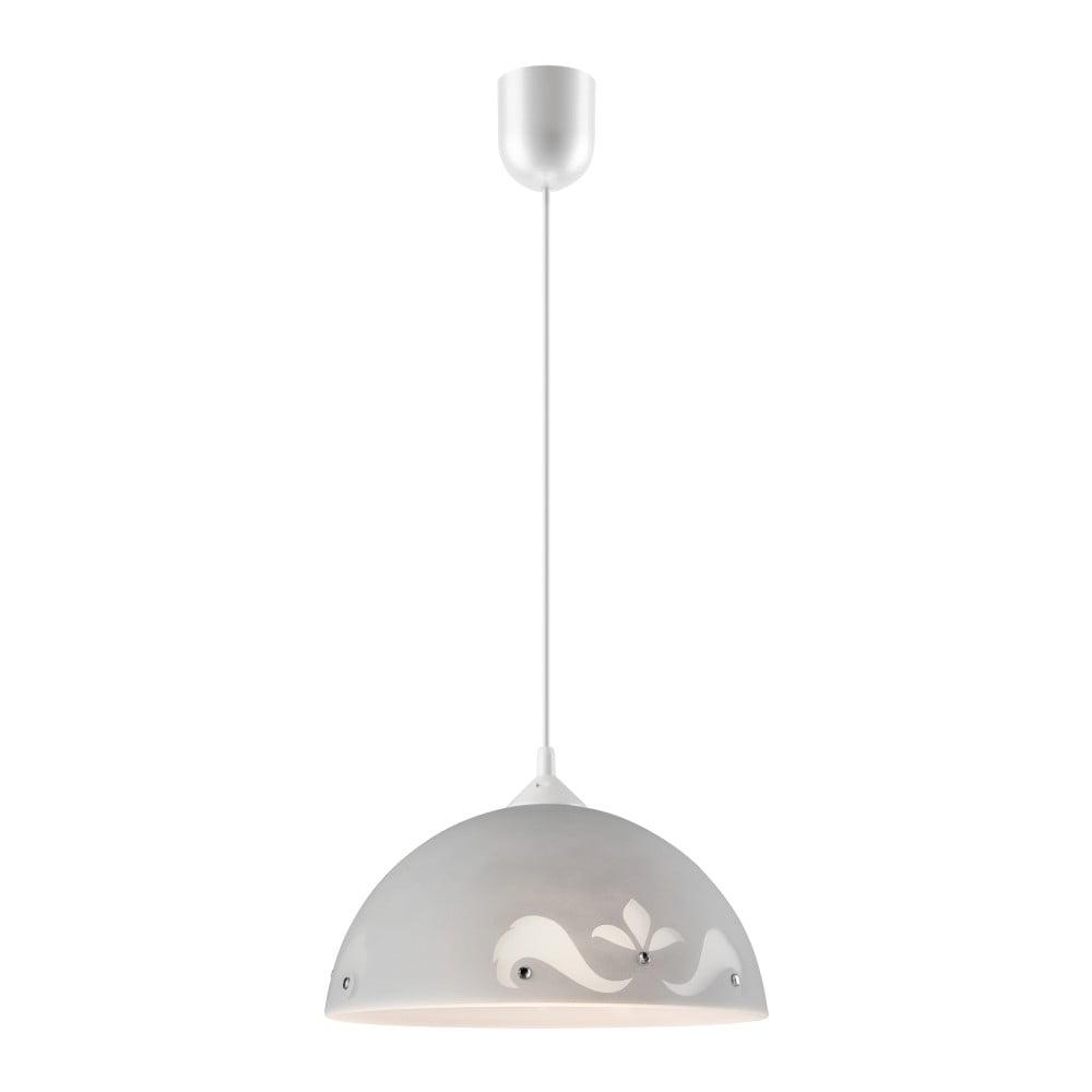 Szara lampa wisząca Lamkur Glam