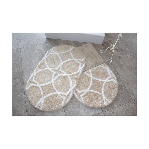 Zestaw 2 brązowych dywaników łazienkowych Bonne