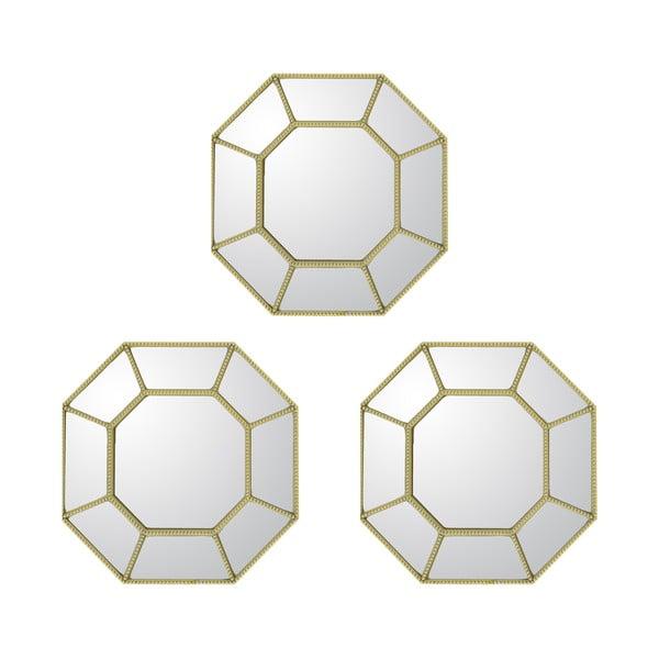 Zestaw 3 luster Goldies
