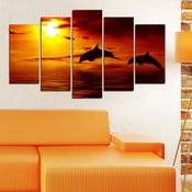 5-częściowy obraz Zachód słońca