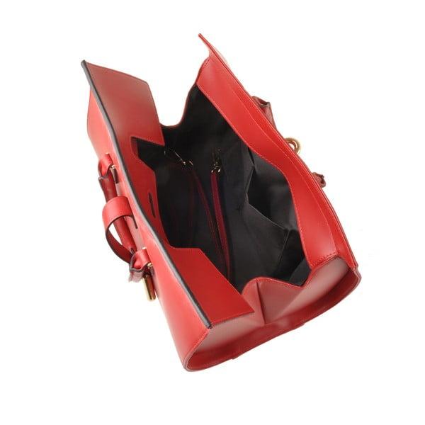 Skórzana torebka Emilio Masi Dabo, czerwona