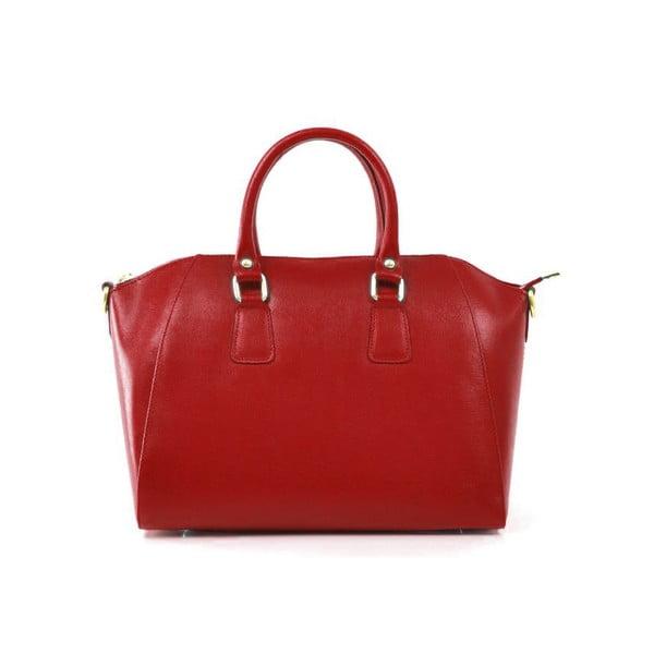 Skórzana torebka Clementine, czerwona