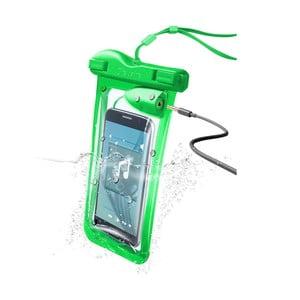 Etui na telefon, wodoszczelne, uniwersalne Cellularline VOYAGER MUSIC z wejściem na 3,5 mm jack, zielone