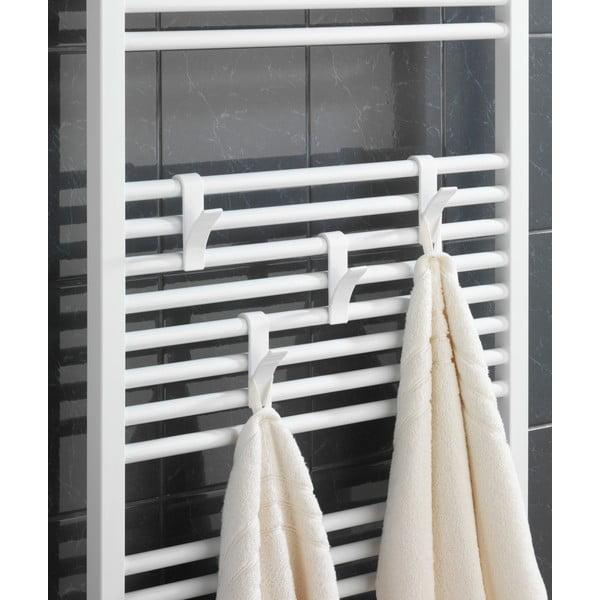 Komplet 2 haczyków na ręczniki Radiator, białe