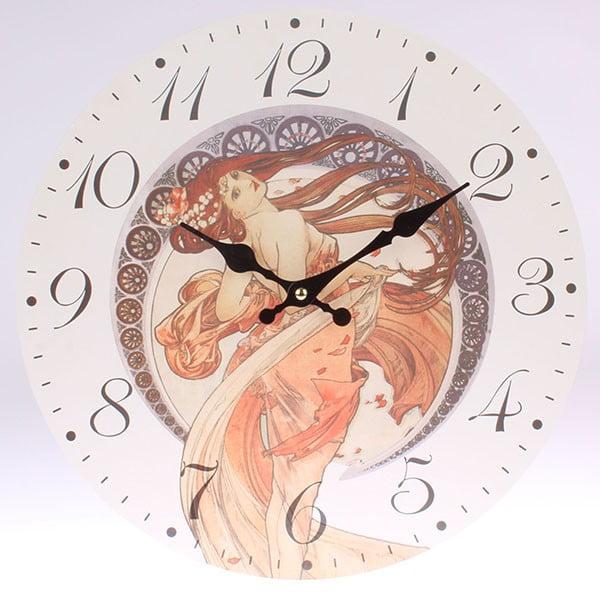 Drewniany zegar Mucha, 34x34 cm