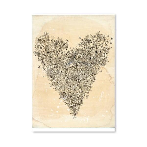 Plakat Love Art Print, 30x42 cm