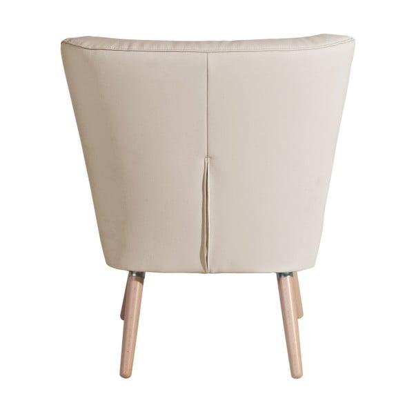 Beżowy fotel Max Winzer Neele Leather Beige