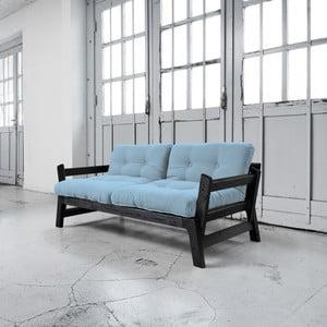 Sofa rozkładana Karup Step Black/Celeste
