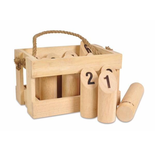 Gra ogrodowa dla całej rodziny Kubb z liczbami