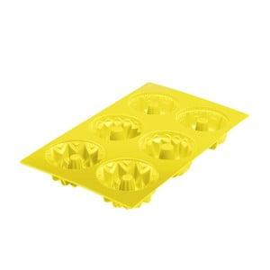 Silikonowa foremka na babeczki Cakes, żółta