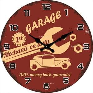 Szklany zegar Mechanik, 38 cm