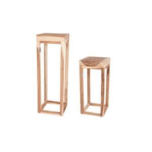 Zestaw 2 drewnianych stolików Sivert