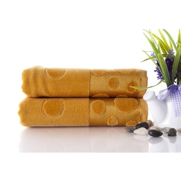 Zestaw 2 ręczników Tropical Mustard Color, 50x90 cm