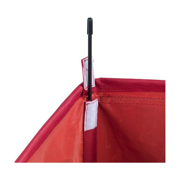 Czerwony potrójny kosz na pranie Wenko Trivo, 117,6 l