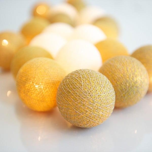Świecący łańcuch Irislights Gold, 10 lampek