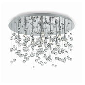 Lampa sufitowa Evergreen Lights Drops Chrome, 40 cm