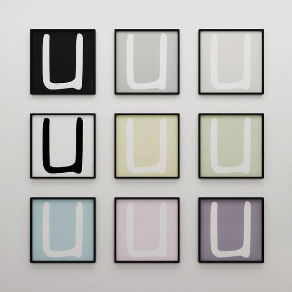 Plakat Litera U, 50x50 cm