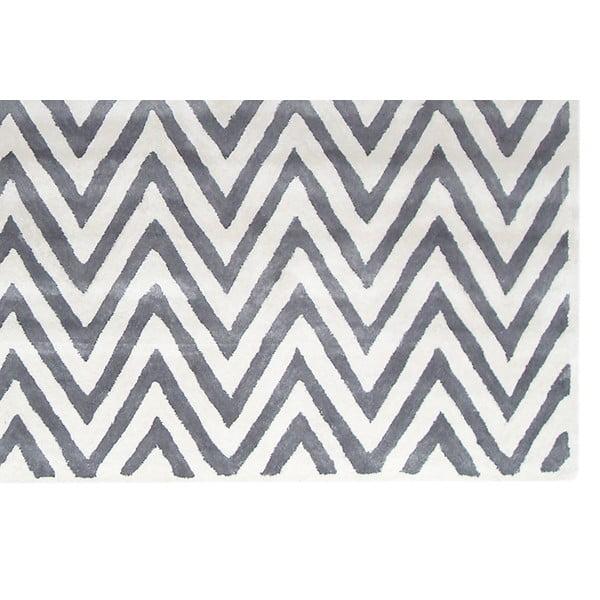 Dywan wełniany Ziggy Ivory/Silver, 122x183 cm