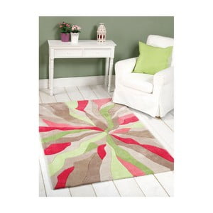 Dywan Splinter Pink Green, 80x150 cm