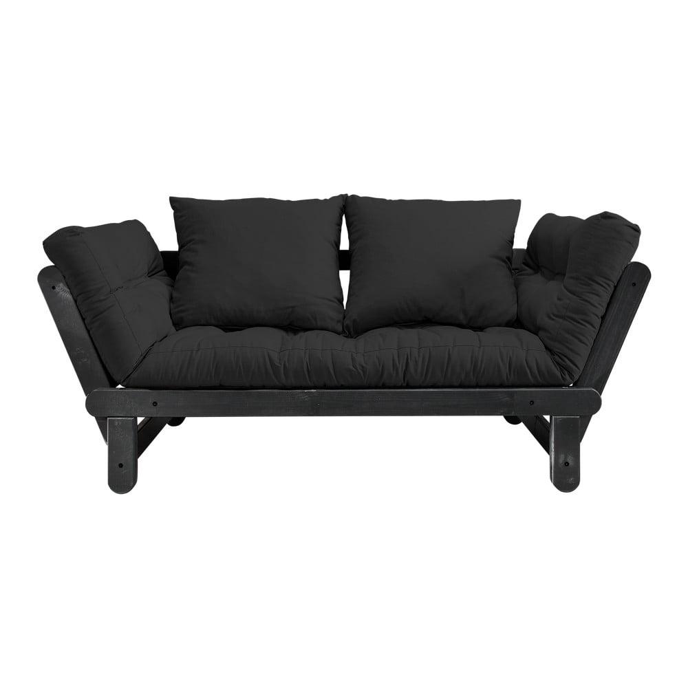 Sofa rozkładana Karup Design Beat Black/Dark Grey