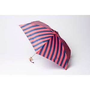 Składany parasol Stripe, czerwono-niebieski