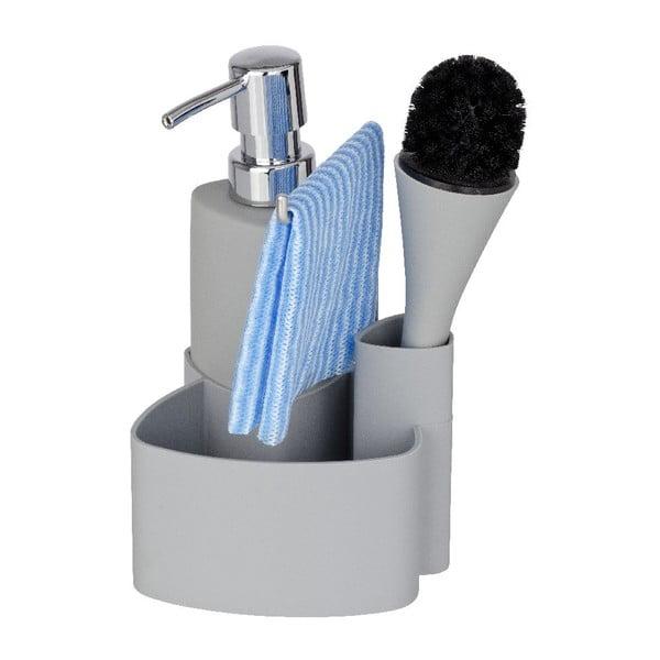 Szary zestaw do mycia naczyń Wenko Empire, 250 ml